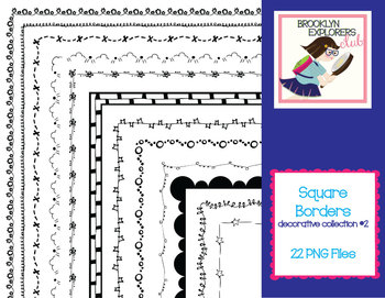 Square Decorative Skinny Borders (Pattern Collection #2) -