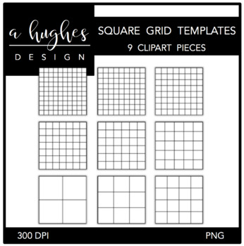 Square Grid Templates {Graphics for Commercial Use}
