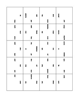 Square Puzzles for Noun/Verb Pairs and Idioms and Their De