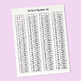 Square Roots Reference Card (1-225) & Perfect Squares List