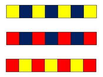 Square Tiles Pattern Cards {FREEBIE}