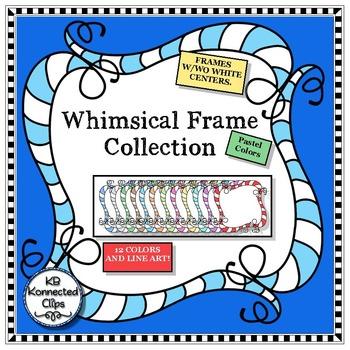 Square Whimsy Frames - Pastels