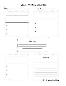 Informational Square Writing Organizer