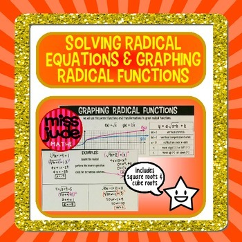 Square root & cube root equations--solving & graphing radicals