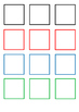 Square shapes ready to print / cut - for crafts, logical s