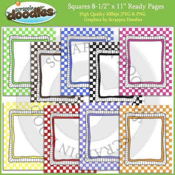 Squares 8 1/2 x 11 Ready Pages / Cover Pages