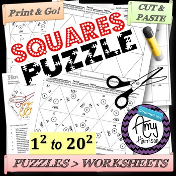 Squares Triangle Matching Puzzle