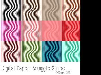 Squiggle Stripe Digital Paper