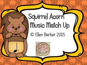 Squirrel Acorn Music Symbol Match Up