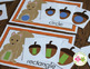 Fall Squirrel and Acorn Bundle:  Fall Activities for Presc