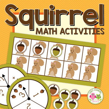Fall math activities: Squirrel Five and Ten Frame Fun for