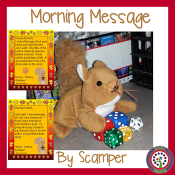 Squirrel Morning Message - CCSS aligned teaches editing an