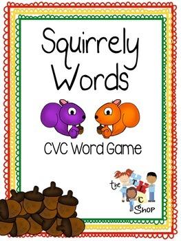 Squirrely Words: CVC Word Game Bundle