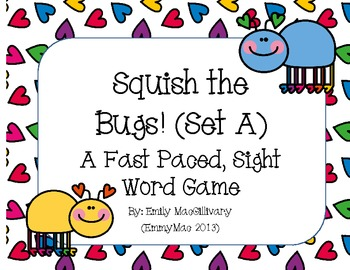 Squish the Bug (Slap it) !!! A Sight Word Game for Grade 1