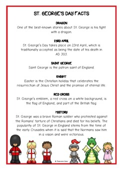 St. George's Day Fact Cards