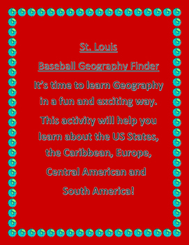 St. Louis Baseball Geography Finder