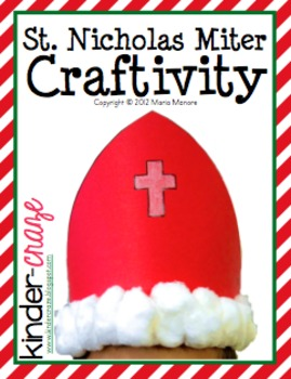 St. Nicholas Miter Headband Craftivity