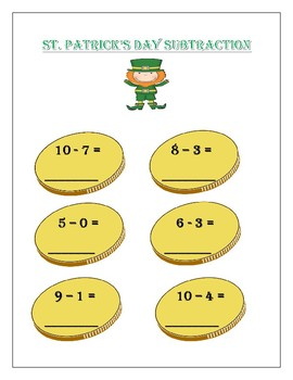 St.Pactricks Day Subtraction