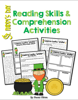 St. Paddy's Day Reading Skills & Comprehension Activities Freebie