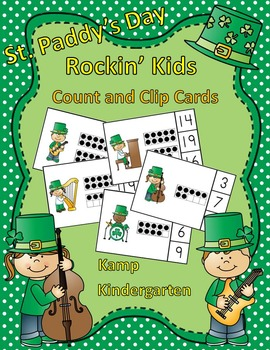 St. Paddy's Day Rockin' Kids Count and Clip Cards (Quantit