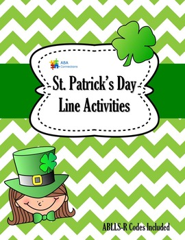 St. Patrick Day Line Tracing Activities with ABLLS-R Codes