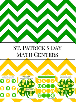 St. Patrick Day Math Centers