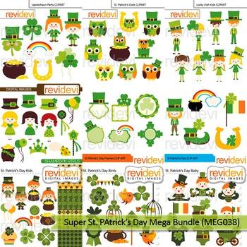 St. Patrick' Day clip art mega bundle (9 packs)