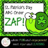 St. Patrick Zip ZAP Zop Alphabetical Order