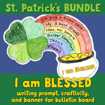 """""""I am blessed"""" writing craftivity and bulletin board penna"""