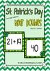 St.Patrick's Day 2 Digit Addition Math Centers Grade 1