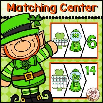 St. Patrick's Day Math Center for Kindergarten to 1st grade