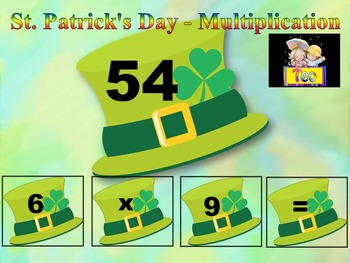 St. Patrick's Day Math - St. Patrick - Multiplication - Math