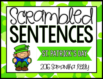St. Patrick's Day Scrambled Sentence Station