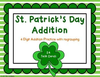 St. Patrick's Day 4-Digit Addition