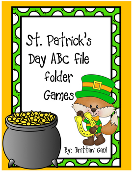 St. Patrick's Day ABC File Folder Games