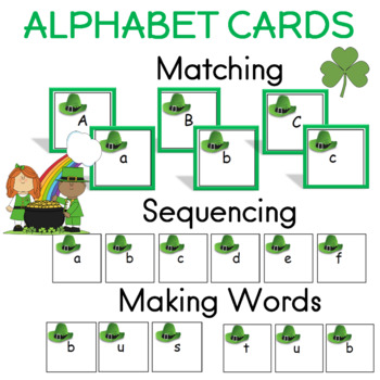 St. Patrick's Day ABC Matching Cards for Literacy Center