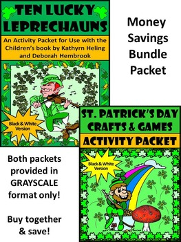 St. Patrick's Day Language Arts: Ten Lucky Leprechauns -St