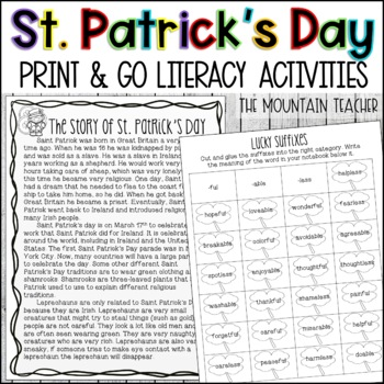 St. Patrick's Day Activities - Print and Go!