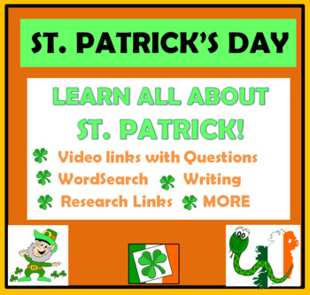 St. Patrick's Day Activities - WordSearch, video links, qu
