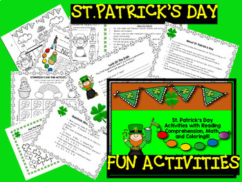 St. Patrick's Day  with Reading Comprehension, Math, and C