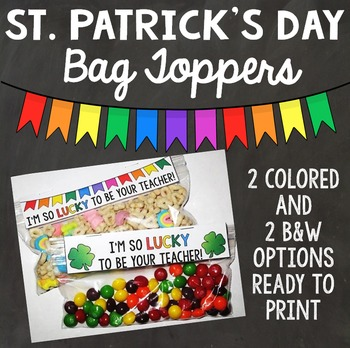 St. Patrick's Day Bag Toppers