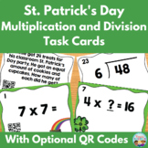 St. Patrick's Day Multiplication and Division Task Cards w