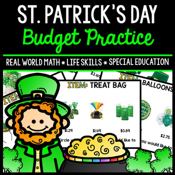St. Patrick's Day Budget - Special Education - Shopping -