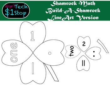 St. Patrick's Day * Build-a-FourLeafClover * Shamrock Math