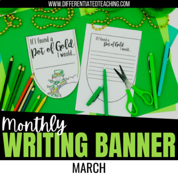 St. Patrick's Day Bunting Banners - March No Prep Writing