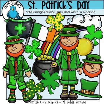 St. Patrick's Day Clip Art Set - Chirp Graphics