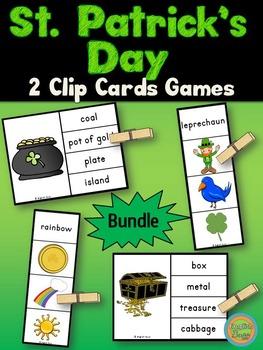St. Patrick's Day - Clip Cards Bundle