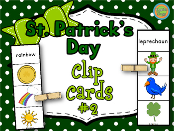 St. Patrick's Day - Clip Cards Game #2
