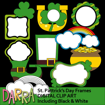 St. Patrick's Day Clipart - Frames clip art