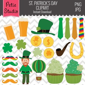 St. Patrick's Day Clipart // Gold Coins // Luck of the Iri